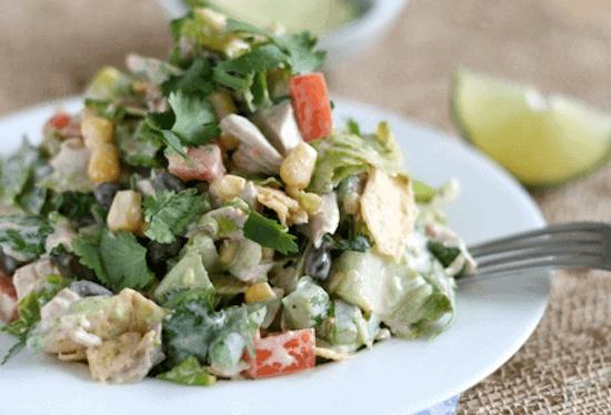 Southwest Chicken Chop Salad | Lauren's Latest