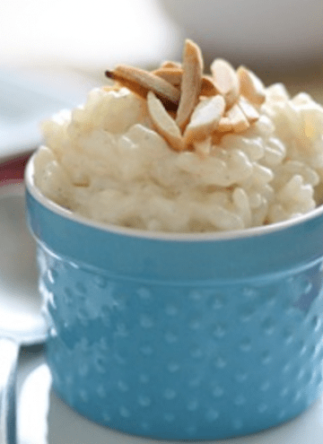 Almond Vanilla Bean Rice Pudding {gluten-free, sugar-free & low-fat}
