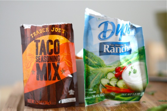 Taco Seasoning and Ranch Seasoning