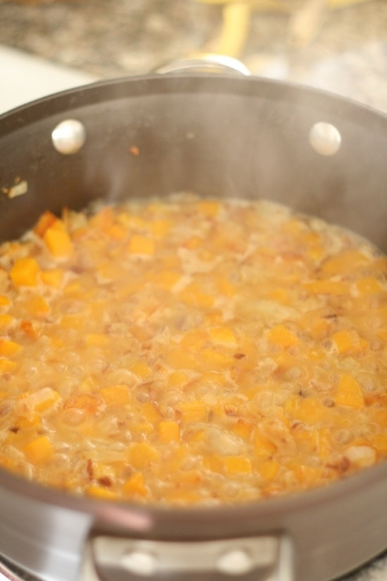 Cooking butternut squash