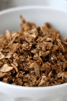 chocolate almond granola