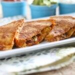 Whole Wheat Butternut Squash & Chorizo Quesadillas