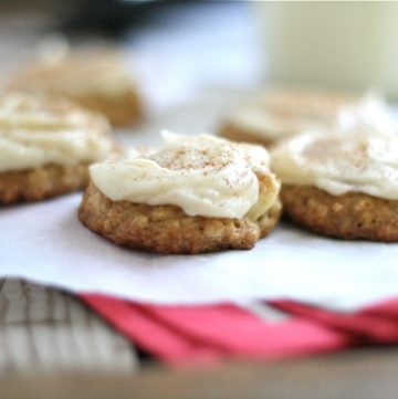 Apple Oatmeal Cookies with Brown Butter Frosting