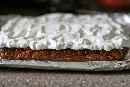 Adding whipped cream