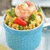 paella couscous salad with shrimp