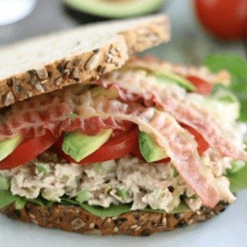 Tuna California Club Sandwich