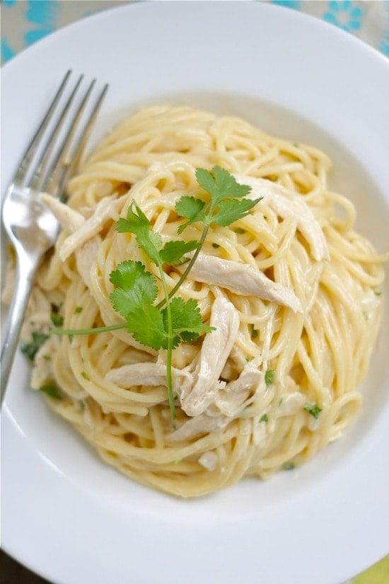 Tex-Mex Chicken & White Cheddar Spaghetti