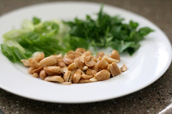 Peanuts, Cilantro, and Green Onions