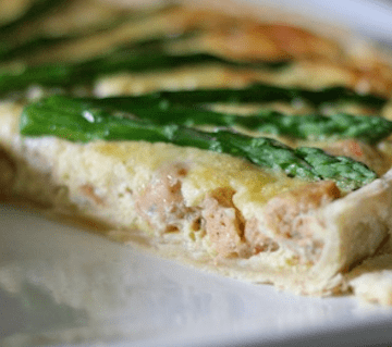 Chicken Sausage and Asparagus Quiche