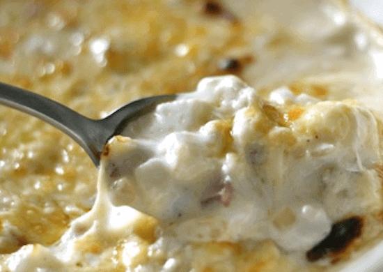 Creamy Cheesy Bacon & Potato Casserole {aka Funeral Potatoes}   Lauren's Latest