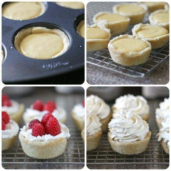Raspberry Lemon Cream Tarts