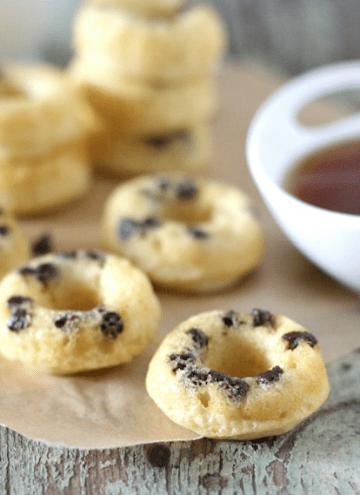 Mini Chocolate Chip Doughnut Pancake Dippers