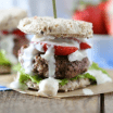 red white and blue sliders
