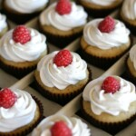 Vegan Cupcakes with raspberries