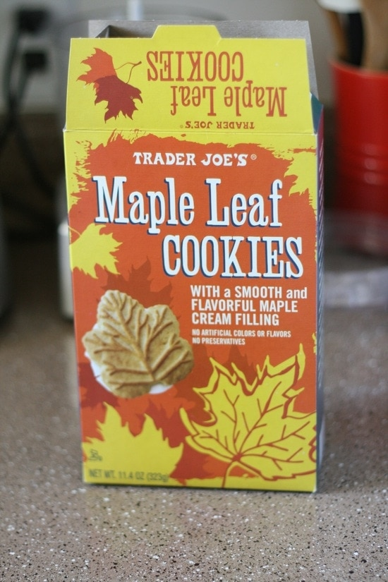 Maple Leaf Cookies from Trader Joes