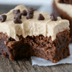 Brownie with cookie butter frosting