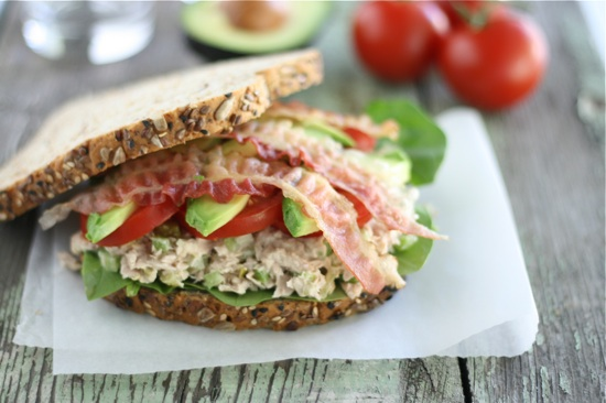Tuna California Club Sandwiches