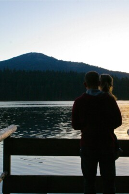 Gordon and Brooke overlooking a lake