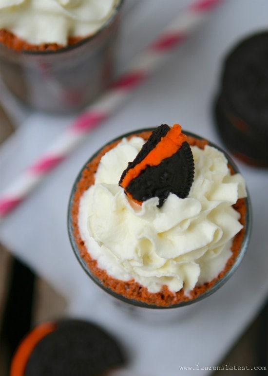 Halloween Oreo Frozen Hot Chocolate