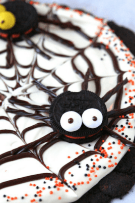 large halloween themed cookie