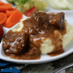 tri tips with gravy and mashed potatoes