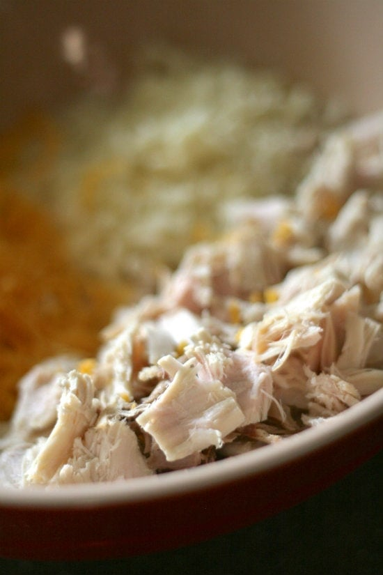 Shredded Chicken and Other Ingredients