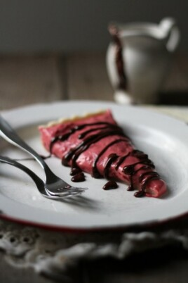 Raspberry Cream Tart with Dark Chocolate Ganache