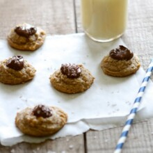 Nutella Peanut Butter Thumbprint Cookies