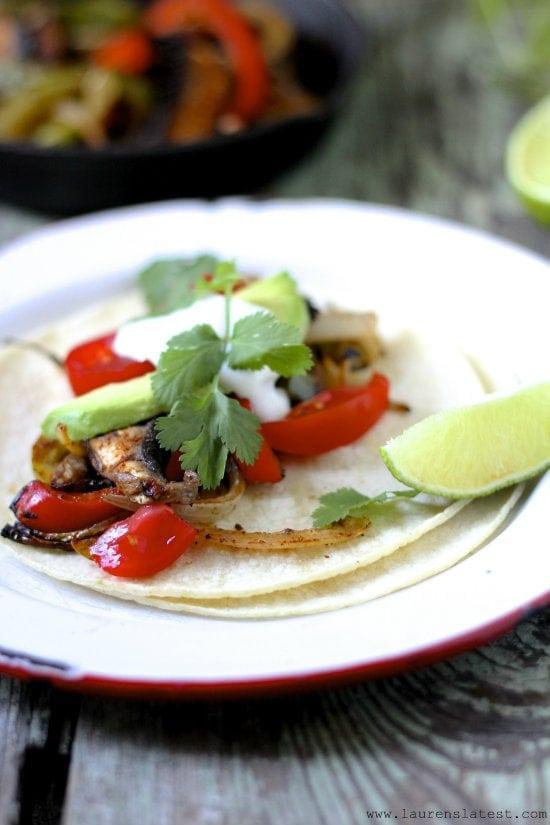 Vegetarian Naturally Gluten Free Fajitas