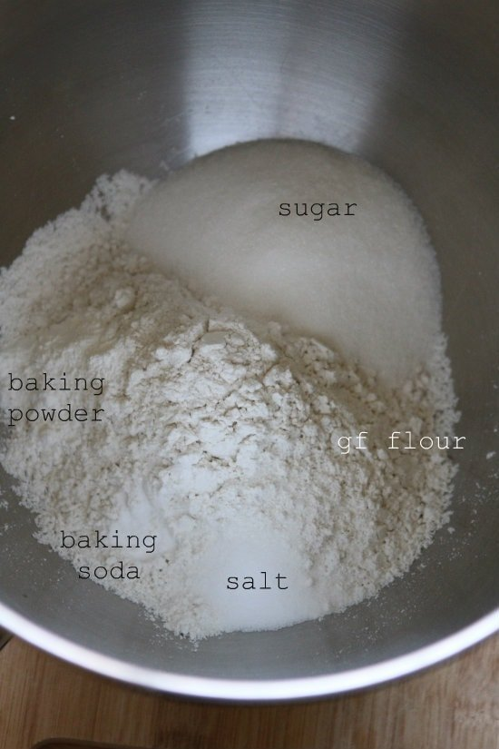 Dry ingredients for cinnamon rolls