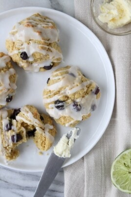 cornmeal blueberry scones