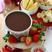 chocolate dip with dipping options