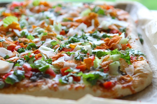 Taco Salad Pizza with Doritos!! From www.laurenslatest.com