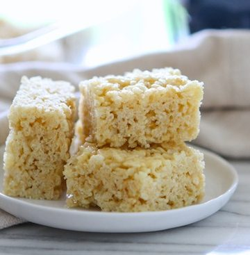 Lemon & Browned Butter Rice Krispie Treats