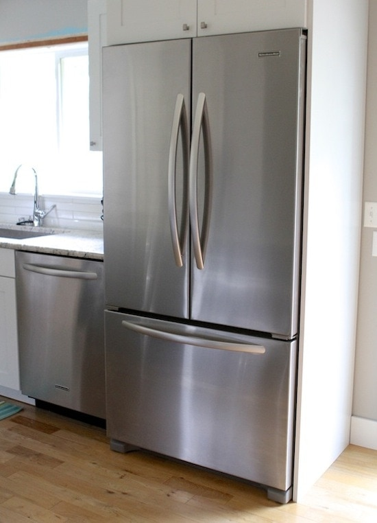 The Fridge We Chose Was The KitchenAid 22 Cu.ft. Counter Depth French Door  Refrigerator. I Donu0027t Like Fridges With The Ice And Water Dispensers On The  ...