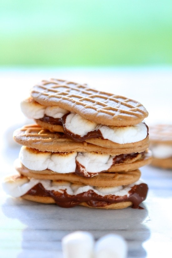 Nutter Butter Nutella S'mores from www.laurenslatest.com