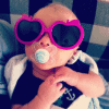 baby blake with sunglasses on