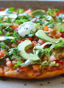Loaded Chicken Fajita Pizza