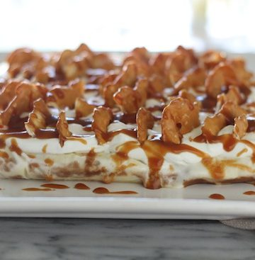 Salted Caramel Pretzel Ice Cream Cake
