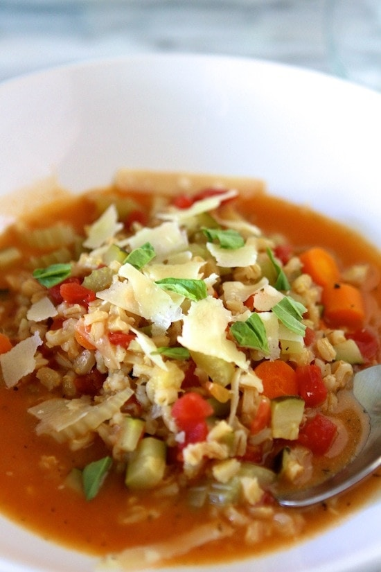 Summer Vegetable Stew in a bowl