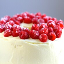 lemon raspberry angel food cake