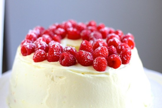 lemon raspberry angel food cake