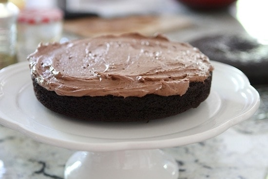 frosting vegan chocolate cake