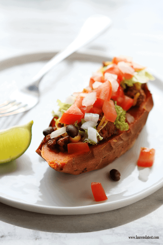 Sweet potato taco boat