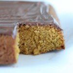 Easy Pumpkin cake with nutella glaze