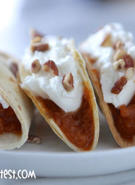 pumpkin pie mini tacos