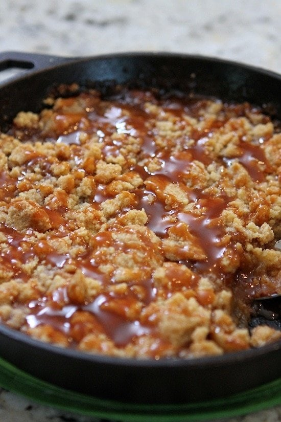 Salted Caramel Apple Crumble Recipe