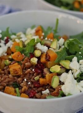 wheat berry power salad