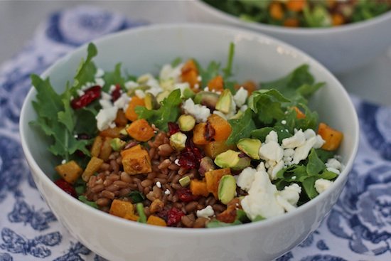 wheat berry power salad
