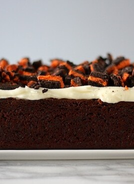 halloween oreo white chocolate brownie loaf